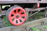 Part of railway pump trolley — Stock Photo