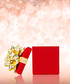 Valentines Day Gift Box With Copy Space — 图库照片