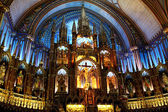 Notre Dame Basilica Church in Montreal — Stockfoto