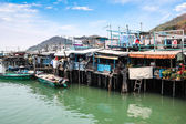 Tai O fishing village stilt houses in Hong Kong — Zdjęcie stockowe