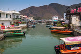 Tai O fishing village stilt houses in Hong Kong  — Stock Photo