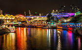 Lantern Festival on Singapore River — Stock Photo