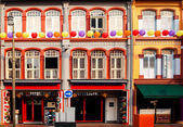 Colorful Shophouses in Singapore Chinatown — Stock Photo