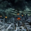 Cinematic Portrayal of Destroyed City With Copy Space — Stock Photo #48701659