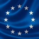 European Union Flag Close Up — Stock Photo #48824647
