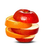 Comparing Apples to Oranges — Stock Photo