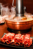 Traditional Asian Hot Pot Shabu Shabu — Stock Photo