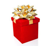 Red Gift Box Isolated on White Background — Stock Photo
