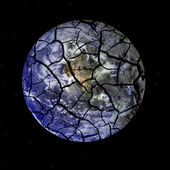 Fragile Planet Earth Cracking Apart in Outer Space — Stock Photo