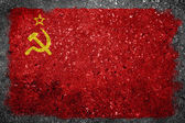 Former USSR Flag Painted on Concrete Wall — Photo
