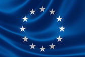 European Union Flag Close Up — Stock Photo