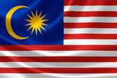 Close up of Malaysian Flag — Stock Photo
