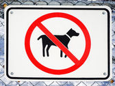 No Dogs Allowed Sign — Stock Photo