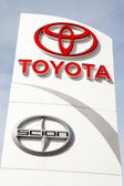 Toyota and Scion Sign — Stock Photo