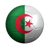 Voetbal met algerijnse vlag geïsoleerd op wit — Stockfoto