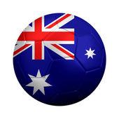 Soccer Ball Dressed in Australian Flag — Stock Photo