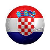 футбольный мяч, одетые в флаг хорватии — Стоковое фото
