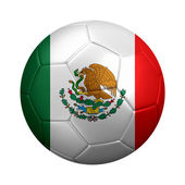Soccer Ball Dressed in Mexican Flag — Stock Photo