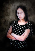 Angry Asian Girl — Stock Photo