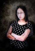 Angry Asian Girl — Stock Photo