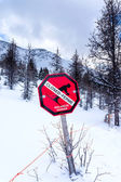 Avalanche Danger — Stock Photo
