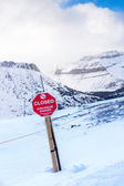 Avalanche Danger Sign — Stock Photo