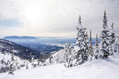 Winter Landscape on Big Mountain in Montana — Stock Photo