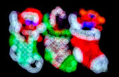 Christmas Stocking Bokeh Lights — Stock Photo