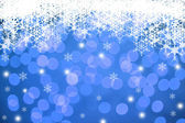 Christmas Snowflakes Winter Background — Stock Photo