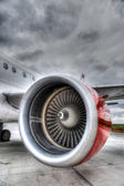 Red Plane Engine — Foto Stock
