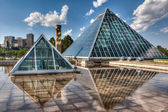 Glass Pyramids in Edmonton, Alberta, Canada — Stock Photo