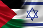 Close Up of a Merged Israeli-Palestinian Flag — Stock Photo
