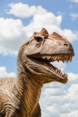 Head of a Dinosaur — Stock Photo