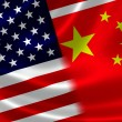 Merged Flag of China and USA — Stock Photo #51007149