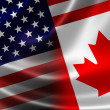 Merged Flag of Canada and USA — Stock Photo #51007157