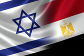 Merged Flag of Israel and Egypt — Stock Photo