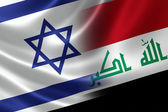 Merged Flag of Israel and Iraq — Stock Photo