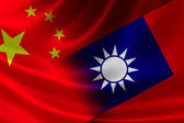 Merged Flag of China and Taiwan — Stock Photo