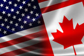 Merged Flag of Canada and USA — Stock Photo