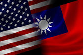 Merged Flag of USA and Taiwan — Stock Photo