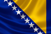 Bosnia and Herzegovina's Flag — Stock Photo