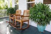 Rocking chairs on a veranda — Stock Photo