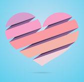 Cartão de dia dos namorados coração — Vetorial Stock