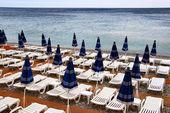 Evening beach in Nice — Stock Photo