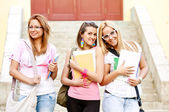 Happy young high school students — Stock Photo