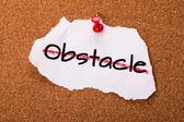Overcome the obstacle — Stock Photo