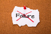 Refused to accept failure — Stock Photo