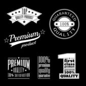 Collection of vintage labels - premium and top quality products — Stock Vector