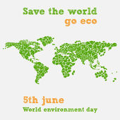 World environment day - fifth june, save the world illustration — Stock Vector
