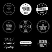 Set of vintage product quality labels - premium and top quality — Stock Vector